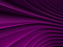 Background of purple abstract waves. render Royalty Free Stock Image