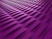 Background of purple 3d abstract waves. Render Royalty Free Stock Photo
