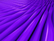 Background of purple 3d abstract waves. Render Stock Photo