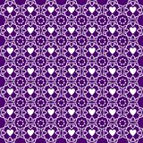 Ornament Love Pattern Background Purple royalty free illustration