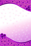 Background with purple flowers Royalty Free Stock Photo