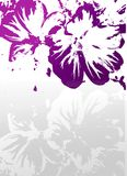 Background with purple grunge flowers Stock Photography