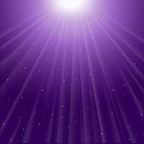 Background of purple luminous rays Stock Photo