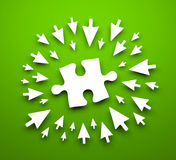 Background with puzzle Stock Image
