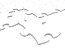 Background puzzle with one missing piece Royalty Free Stock Image