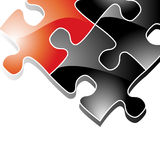 Background with Puzzle Pieces Royalty Free Stock Photo