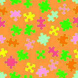 Background with puzzles Stock Photography