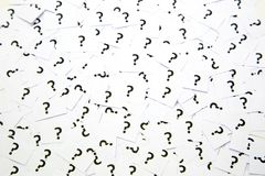 A background of question mark signs Stock Photography
