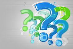 Background with question marks. Modern mosaic composed of question marks on a gray background Stock Image
