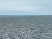 Background - the quiet sea at cloudy weather Stock Image