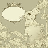 Background with rabbit Stock Photo