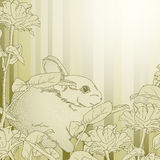 Background with rabbit Stock Photos