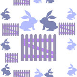Background with rabbits royalty free stock image