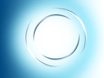 Background radial. Computer generated, abstract blue circle Stock Images