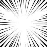 Background radial lines on a white background. Comic book speed, explosion. Vector illustration for graphic design. vector illustration