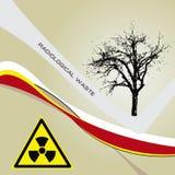 Background radiation waste Royalty Free Stock Images