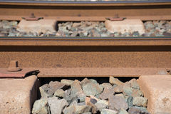 Background. Railway linen. Rails and sleepers. Royalty Free Stock Image