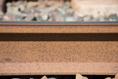 Background. Railway linen. Rails and sleepers. Royalty Free Stock Images