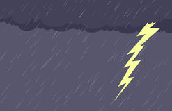 Background of Rain and Lightening Stock Photography