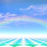 Background with a rainbow Stock Photo
