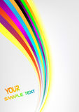 Background with rainbow. Clip-art Vector Illustration