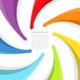 Background with rainbow arrows Stock Photo