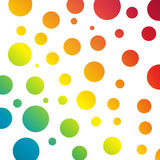 Background with rainbow circles Royalty Free Stock Photo