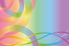 Background with rainbow colors. Background in rainbow colors with lines and semicircles Stock Photo