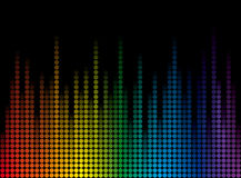 Background with rainbow dots Stock Images