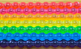 Background of Rainbow jelly stick for LGBT concept Royalty Free Stock Image