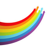 Background with rainbow lines with arrows Royalty Free Stock Photos