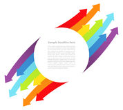 Background with rainbow lines with arrows Royalty Free Stock Images