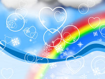 Background Rainbow Represents Valentine's Day And Abstract Royalty Free Stock Photo