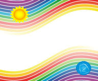 Background with rainbow. Sheet headers or various scriptures Stock Images