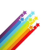Background with rainbow stars Royalty Free Stock Photo
