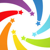 Background with rainbow stars Royalty Free Stock Images
