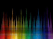 Background with rainbow stripes Royalty Free Stock Image