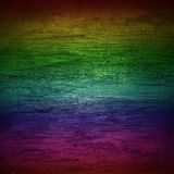 Background rainbow wall wood Stock Images