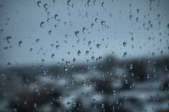 Background raindrops on the window stock photos