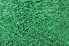 Background of randomly arranged fibers green. Stock Photography