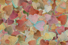 Background of randomly scattered hearts Royalty Free Stock Image
