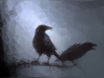 Background with ravens Stock Photos