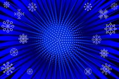 Background with rays. Blue winter cartoon pop art background with rays. Stock vector Royalty Free Stock Photos