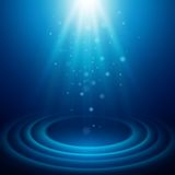 Background with rays of light. Vector illustration Stock Photos
