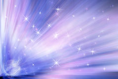 Background with rays and stars Royalty Free Stock Photo