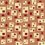 Background With Rectangles. Seamless abstract background with rectangles of different sizes in warm brown and red colors Royalty Free Stock Photo