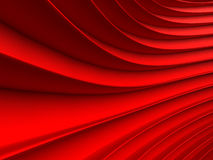 Background of red abstract waves. render Stock Photography