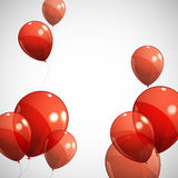 Background with red balloons Stock Images