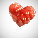 Background with red balloons Stock Image