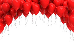 Background of red balloons. 3d render Stock Photo